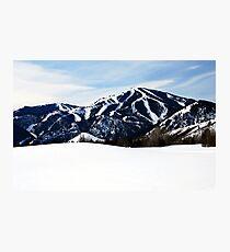 Bald Mountain, Sun Valley, Idaho Photographic Print