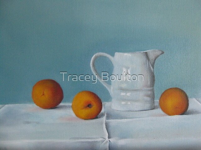 'Jug with Apricots' by Tracey Boulton