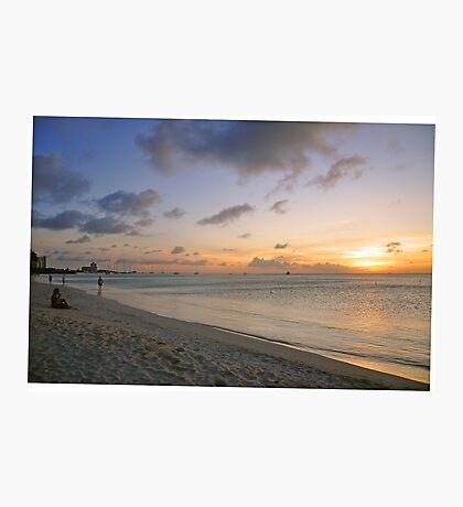 Sunset at Hardicurari Wharf Aruba Photographic Print