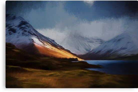 Wasdale Snow Scene Painting by Sean Duffy