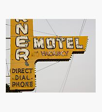 Westerner Motel. Photographic Print