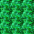 Abstract Brushstrokes military green by Stellagala