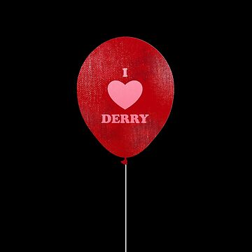 I Love Derry Red Balloon by japdua