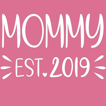 New Mommy 2019 Shirt / Momma Shark / New Mom To Be / Baby Reveal Shirt / Mama Shark / Baby Shower Gift /  by larspat