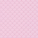 Light Pink Concentric Circle Pattern  by Cool Fun  Awesome Time