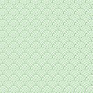 Mint Concentric Circle Pattern  by Cool Fun  Awesome Time