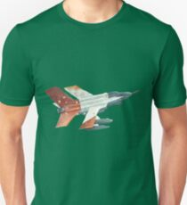 Red Tail Fighter Jet India Wall Mural T-Shirt