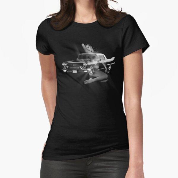 Marilyn Monroe, Cadillac Eldorado  Fitted T-Shirt