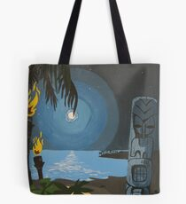 Tiki At Moonlight Beach Tote Bag