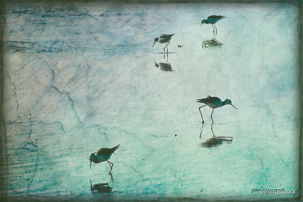 Stilts in Blue by pennyswork