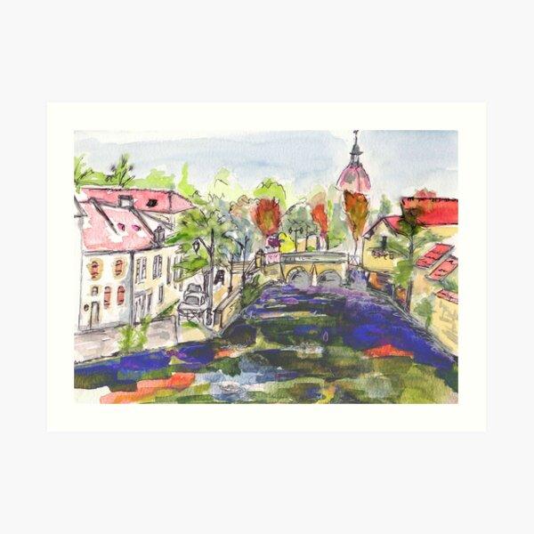 Pont des Oies, Beaune Art Print