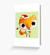 Cute Christmas Fox Greeting Card
