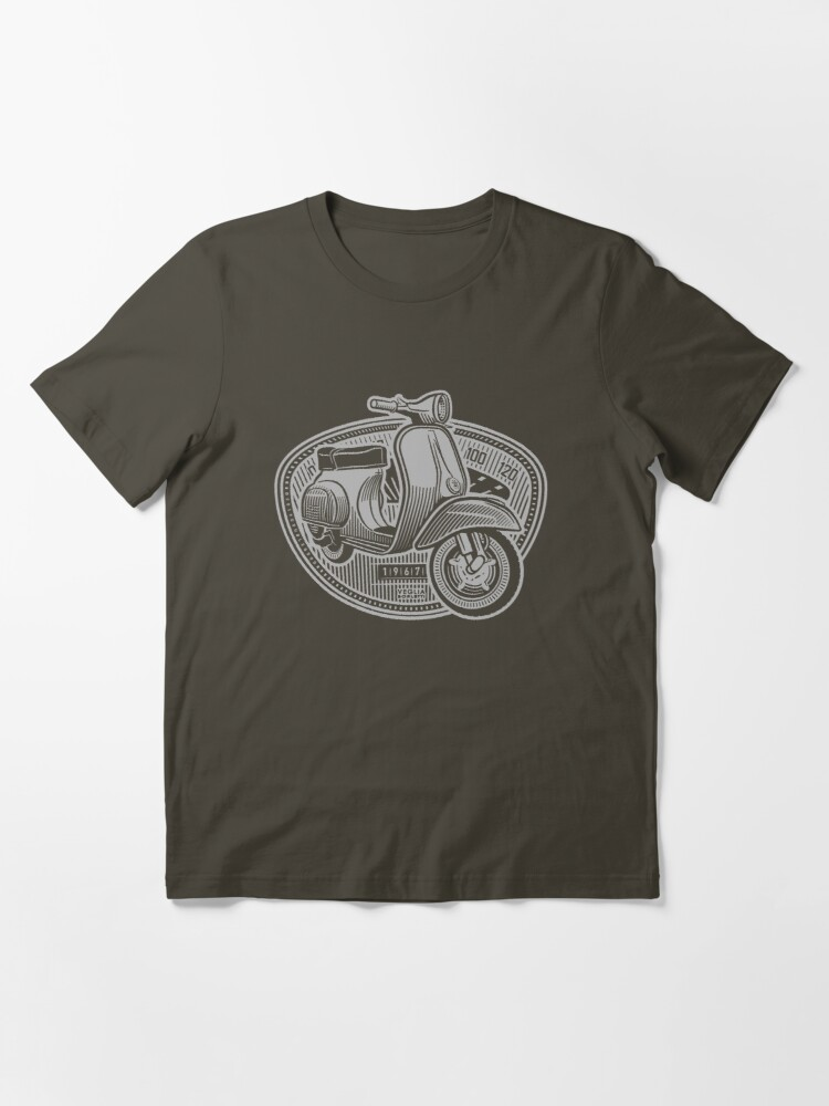 Alternate view of Vespa Smallframe (light print) Essential T-Shirt