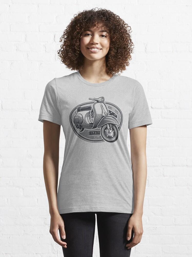 Alternate view of Vespa Smallframe (dark print) Essential T-Shirt