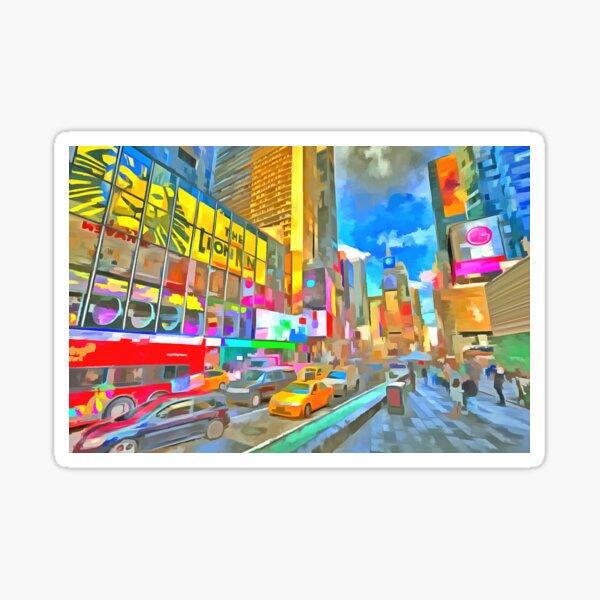 Times Square Pop Art Sticker