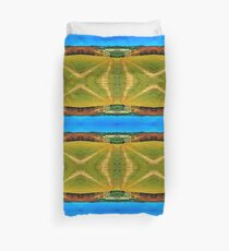Path down and up to the village center Duvet Cover