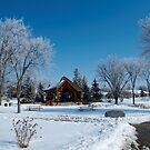 snowy pathway by Cheryl Dunning