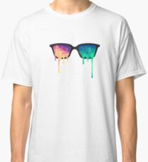 Abstract Polygon Multi Color Cubism Low Poly Triangle Design Classic T-Shirt