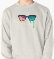 Abstract Polygon Multi Color Cubism Low Poly Triangle Design Pullover
