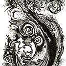 Serendipity, Ink Drawing by Danielle Scott