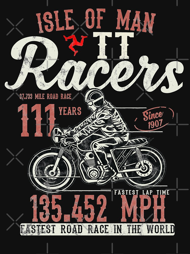 Isle Of Man TT Races Top Speed Racing 3 Legs Of Man Manx Flag by thespottydogg