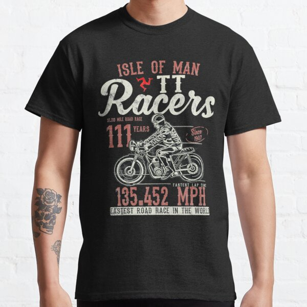 Isle Of Man TT Races Top Speed Racing 3 Legs Of Man Manx Flag Classic T-Shirt