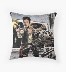 Elvis Han Solo Collage Art Home Decor, Elvis Presley, Star Wars, Harrison Ford, Millenium Falcon, Death Star Throw Pillow