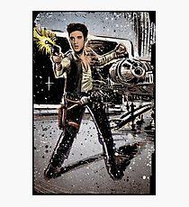 Elvis Han Solo Collage Art Home Decor, Elvis Presley, Star Wars, Harrison Ford, Millenium Falcon, Death Star Photographic Print