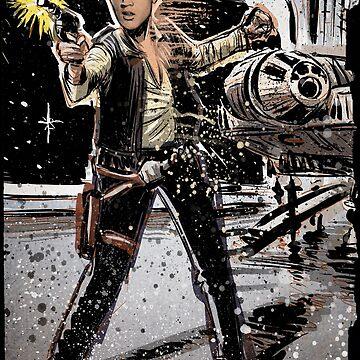 Elvis Han Solo Collage Art Home Decor, Elvis Presley, Star Wars, Harrison Ford, Millenium Falcon, Death Star by joebadon