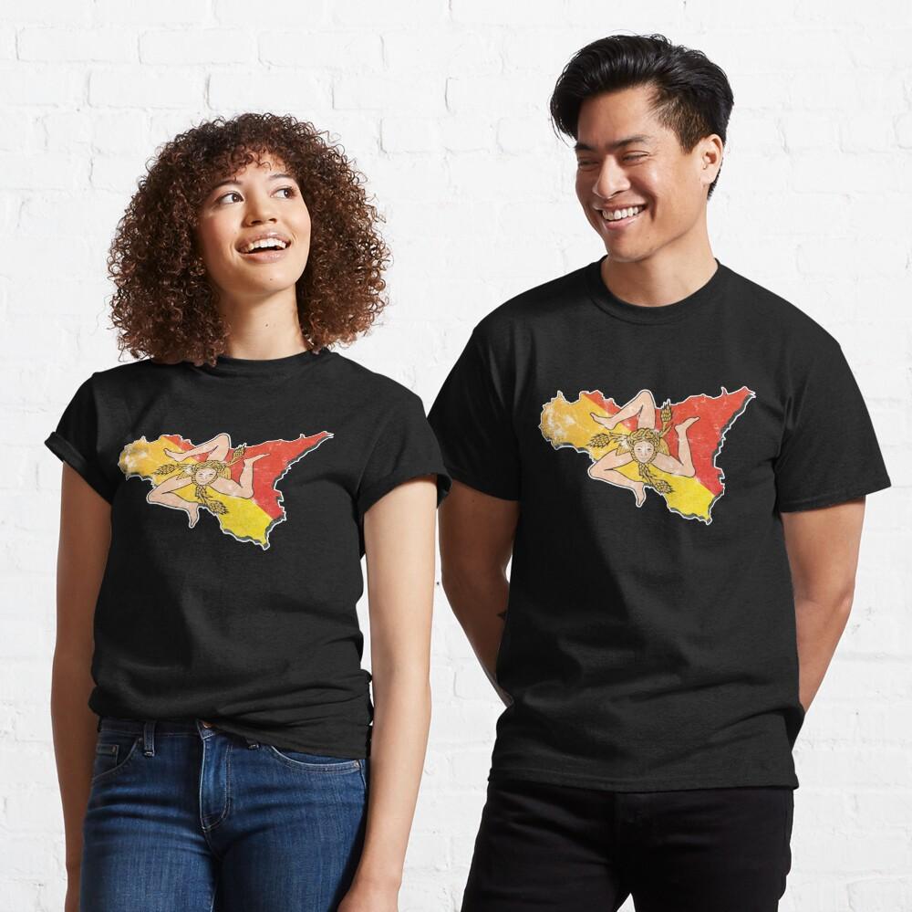 Sicily Flag Sicilian Trinacria Italian Pride Classic T-Shirt