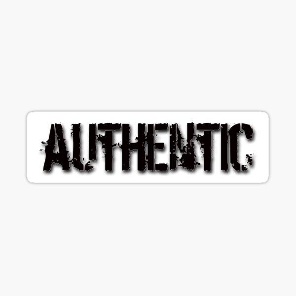 Authentic - black on white Sticker