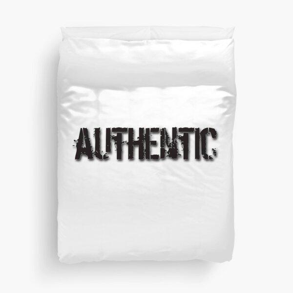 Authentic - black on white Duvet Cover