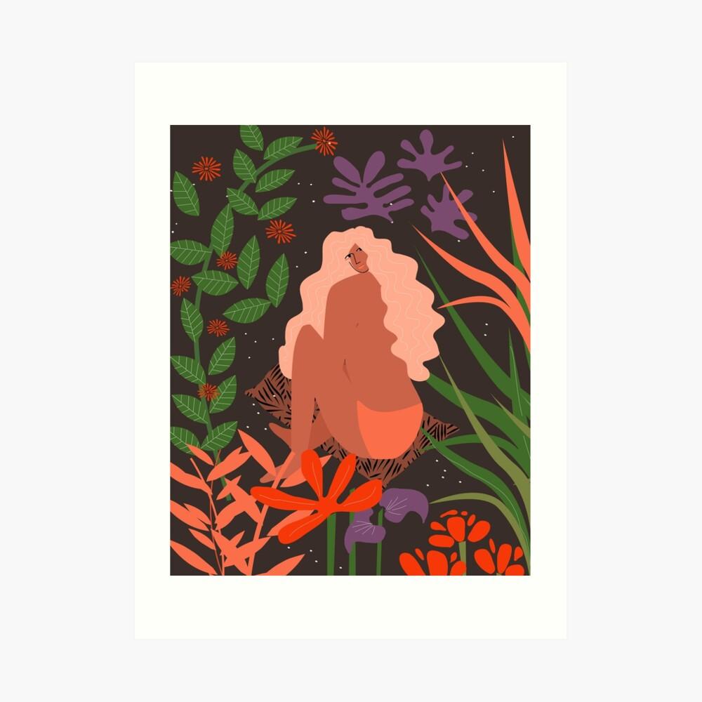 Das Mädchen aus dem Botanischen Garten Kunstdruck
