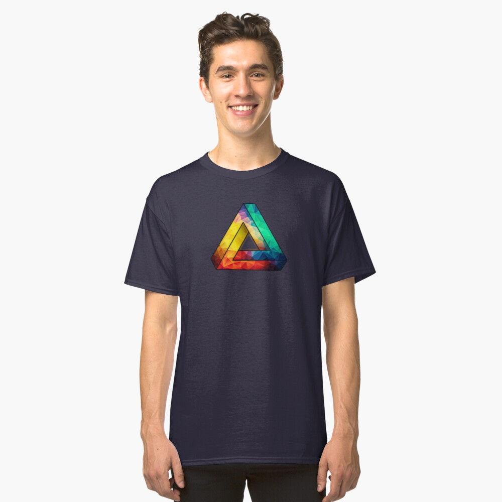 Abstract Multi Color Cubizm Painting Classic T-Shirt
