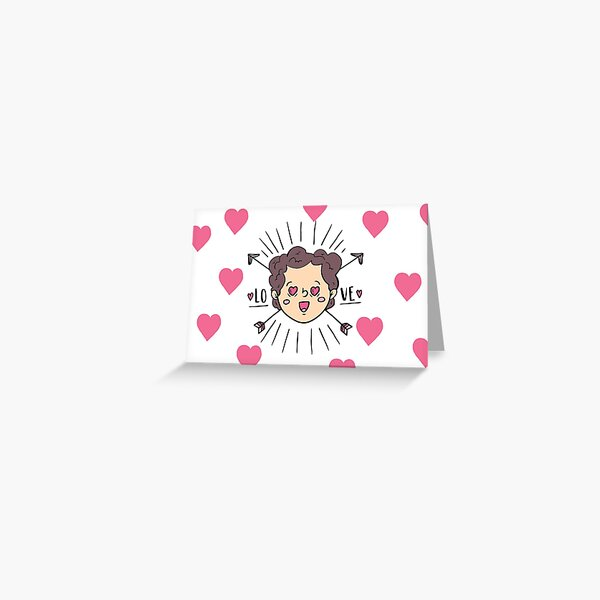 Valentine's Day Cute Boy In Love Greeting Card