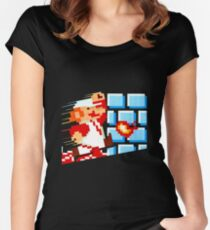 Flower Power Mario Women's Fitted Scoop T-Shirt