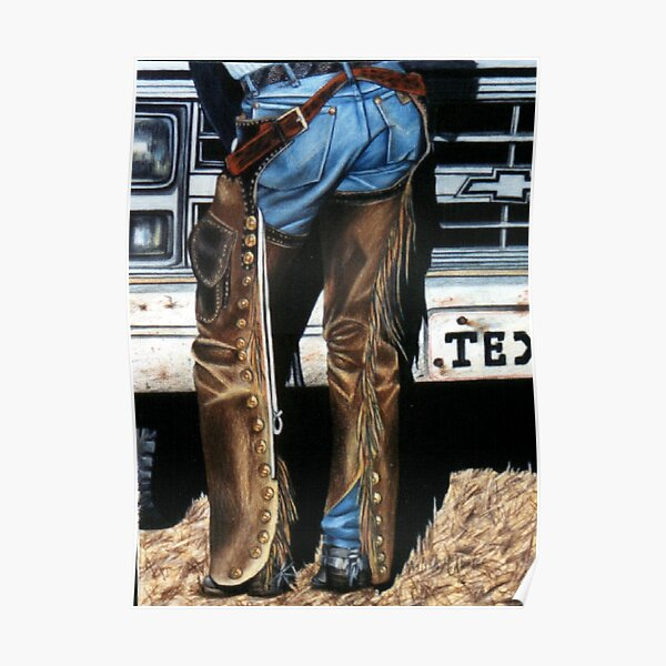 Jeans and Chaps Poster