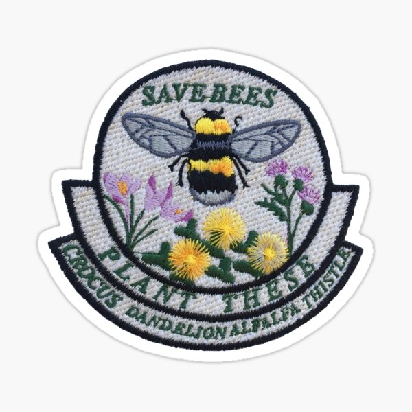 Save The Bees Patch Sticker