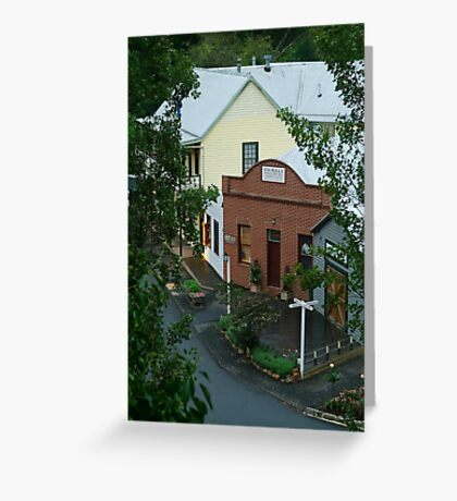 Main Road,Walhalla,Gippsland Greeting Card