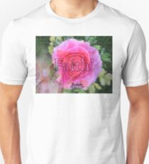 Angels Pink Rose of Faith Unisex T-Shirt