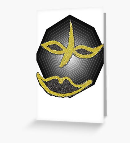 Gold Face Tee Greeting Card