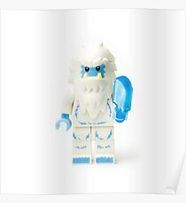 Abominable Snowman Yeti Minifig Poster