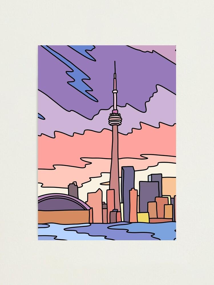 Alternate view of Toronto sky by Elebea Photographic Print