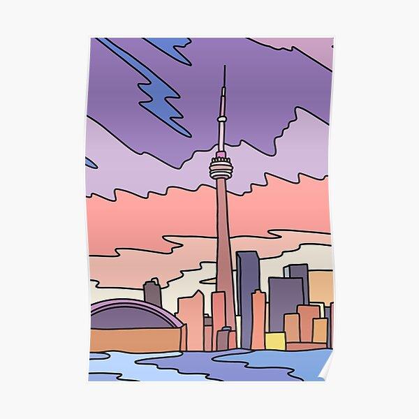 Toronto sky by Elebea Poster