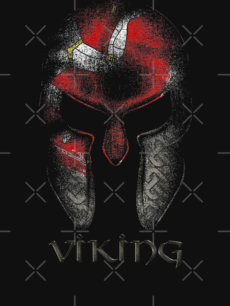Isle Of Man Manx Viking 3 Legs Of Man Flag Viking Warrior Vintage by thespottydogg