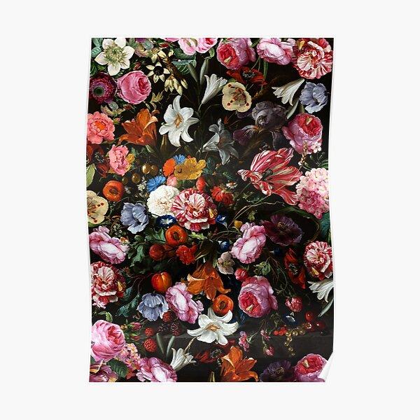 Dutch Midnight Garden Poster