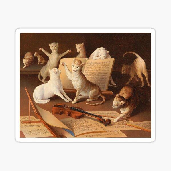 Cat Concert, Emanuel Kratky, 1872 Sticker