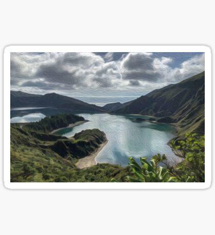 Lagoa do Fogo Sao Miguel Azoren Sticker