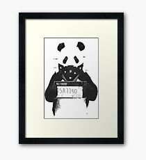 Bad Banksy Panda Framed Print