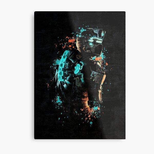 Dead Space Dark Splatter Metal Print